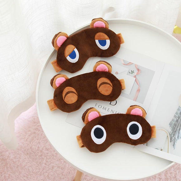 Animal Crossing Plush Timmy Tommy Tom Nook Cosplay Eye Blinder Cute Raccoon Children Kids Soft Toys
