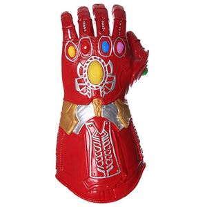 The Avengers Endgame Iron Man Latex Led Infinity Gauntlet Cosplay Action Figures Superhero Party Props Toys