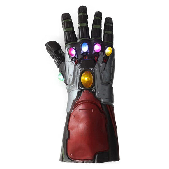 The Avengers Endgame Iron Man Gloves Novelty Latex Light Up Glove Cosplay Prop
