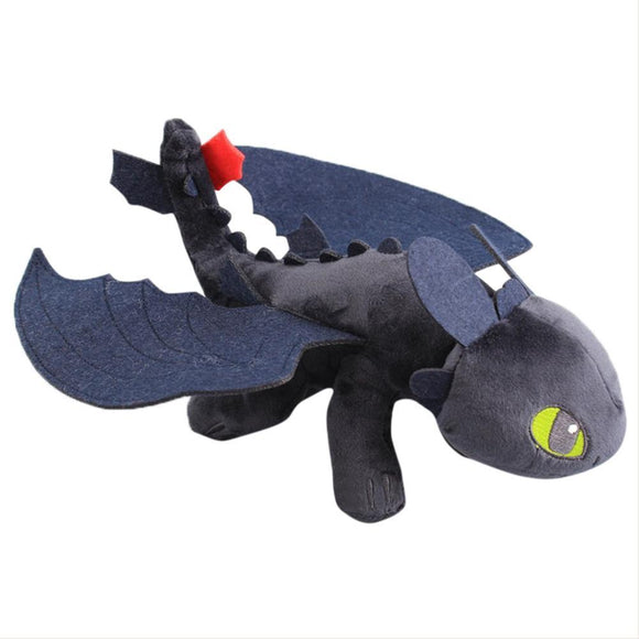 40cm How To Train Your Dragon Night Fury Cartoon Figure Plush Doll Soft Stuffed Toys Children Gift Toys Plush Toys