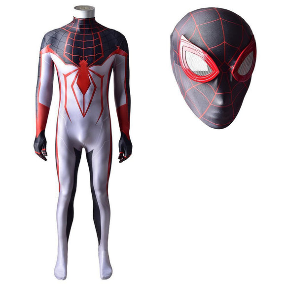 Men 2020 New Spider-Man Miles Morales T.R.A.C.K Cosplay Costume Lycra Spandex Jumpsuit Halloween Costume