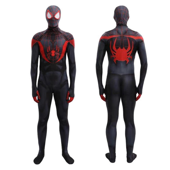 Unisex 2020 Game Spider-Man Miles Morales Cosplay Costume Lycra Spandex Jumpsuit Halloween Costume