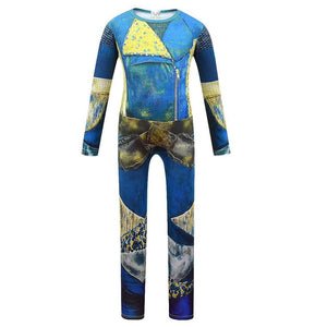 Kids Descendants 3 Uma Cosplay Zentai Suit Halloween Costume Children Jumpsuit Bodysuit Outfits