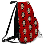 Money Heist Shoulders Backpack Student Large Capacity School Bag Shoulder Bag Rucksack Travel Bags