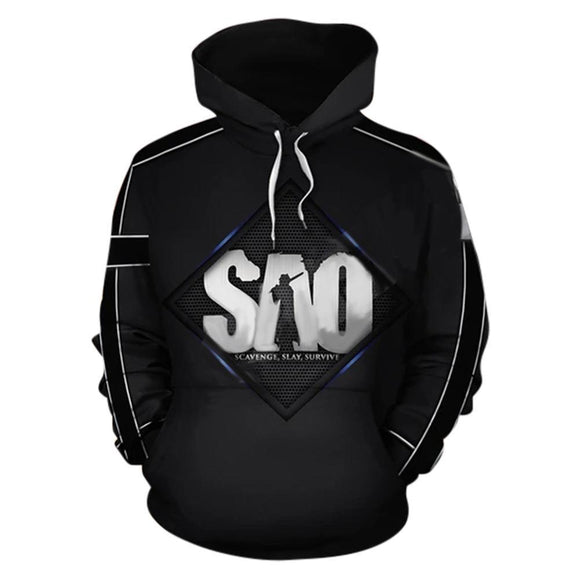 Unisex Anime Sword Art Online Hoodies Cartoon SAO World Sweatshirt Streetwear Pullover Tops
