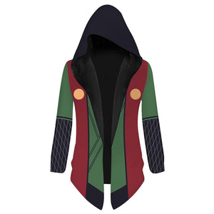 Unisex Naruto Hooded Coat Jiraiya Cosplay Outwear Wind Jacket
