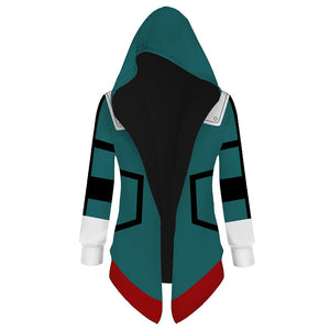 Unisex My Hero Academia Hooded Coat Midoriya Izuku Cosplay Outwear Wind Jacket
