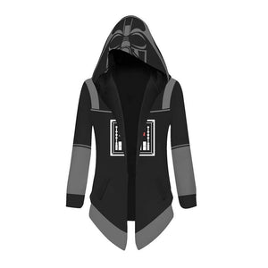Unisex Star Wars Cosplay Jacket Trench Coat Robe Darth Vader Cloak Halloween Costume Hooded Cape Coat