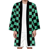 Unisex Demon Slayer: Kimetsu no Yaiba Long Kimono Coat Cosplay Costumes Halloween Costume Cloak