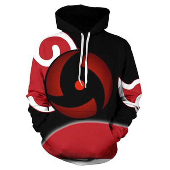 Unisex Naruto Hoodies 3D Print Pullover Sweatshirt Outfit Sharingan Printed Cosplay Casual Outerwear