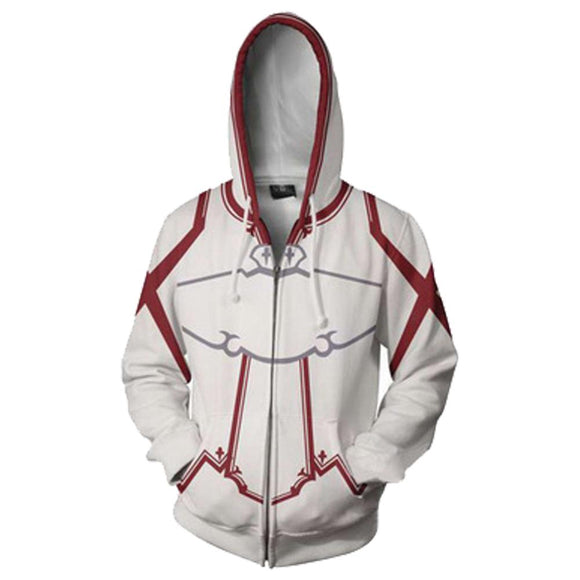 Unisex Knights of Blood Hoodies Sword Art Online Zip Up 3D Print Jacket Sweatshirt