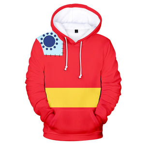 Unisex Luffy-tarou Cosplay Hoodies ONE PIECE Wano Country Arc Pullover 3D Print Jacket Sweatshirt