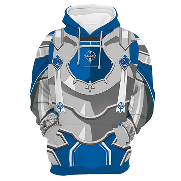Unisex Eugeo·Synthesis·Thirty-two Cosplay Hoodies Sword Art Online Alicization War of Underworld Pullover 3D Print Jacket Sweatshirt