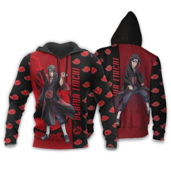 Unisex Anime Naruto Hoodies Streetwear Autumn Winter Coat Fashion Uchiha Itachi Pullover Hoodie Sweatshirt