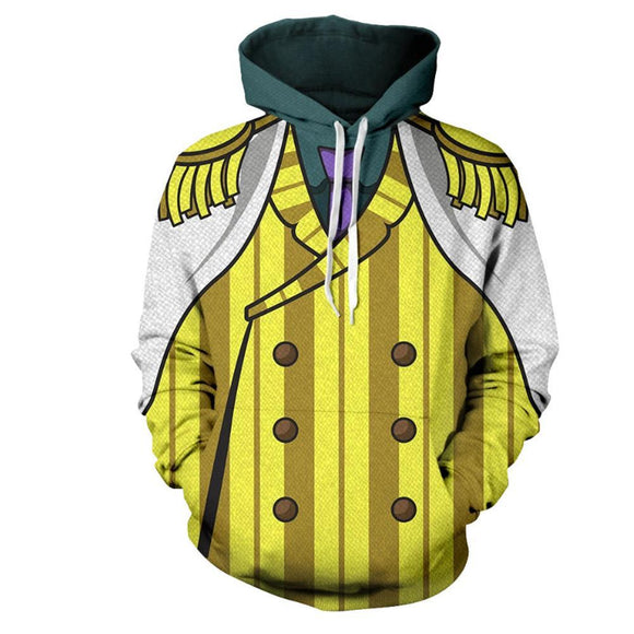 Unisex Borsalino Cosplay Hoodies ONE PIECE Pullover 3D Print Jacket Sweatshirt