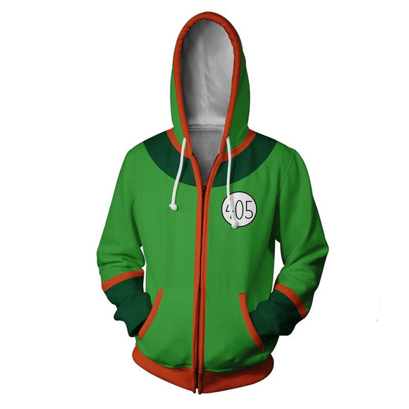 Unisex Gon Freecss Cosplay Hoodies HUNTER×HUNTER Zip Up 3D Print Jacket Sweatshirt