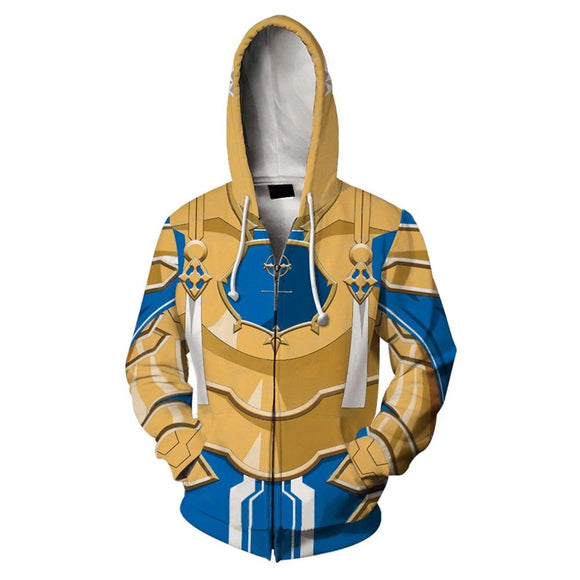 Unisex Alice·Synthesis·Thirty Cosplay Hoodies Sword Art Online Alicization War of Underworld Zip Up 3D Print Jacket Sweatshirt