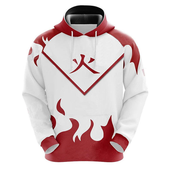 Unisex Anime Naruto Hoodies Streetwear Autumn Winter Coat Fashion Fourth Hokage Pullover Hoodie Sweatshirt