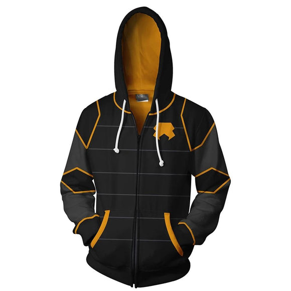 Unisex Lin Beifong Cosplay Hoodies Avatar: The Last Airbender Zip Up 3D Print Jacket Sweatshirt