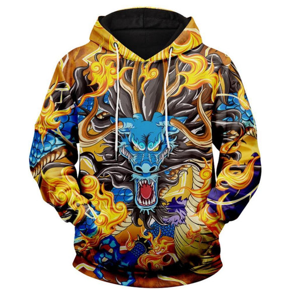 Unisex Shenron Printed Hoodies Dragon Ball Cosplay Pullover 3D Print Jacket Sweatshirt