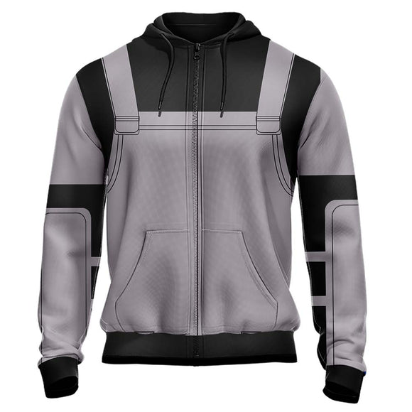 Unisex Naruto Hoodies 3D Print Zip Up Sweatshirt Outfit Anbu Black Ops Cosplay Casual Outerwear