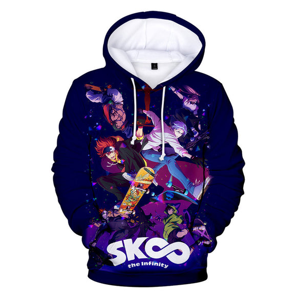 Unisex Anime SK8 the Infinity Hoodies Cosplay Hooded Sweatshirt Casual Streetwear Pullover Hoodie