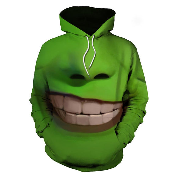 Unisex The Mask Hoodies 3D Print Pullover Sweatshirt Outfit Stanley Ipkiss Cosplay Casual Outerwear