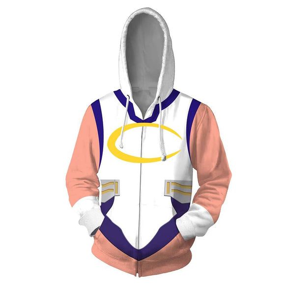 Unisex My Hero Academia Hoodies 3D Print Zip Up Sweatshirt Outfit Miruko Cosplay Casual Outerwear