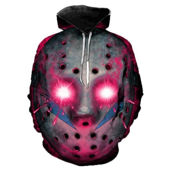 Unisex Movie Friday the 13th Hoodies 3D Print Pullover Sweatshirt Outfit Cosplay Casual Outerwear