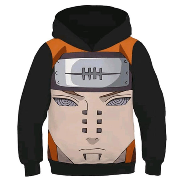Kids NARUTO Hoodies 3D Print Pullover Sweatshirt Outfit Pain Printed Cosplay Casual Outerwear