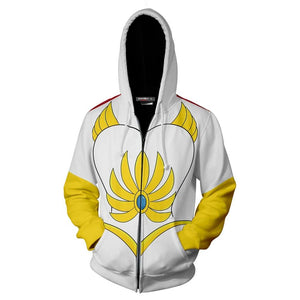 Unisex She-Ra Cosplay Hoodies She-Ra and the Princesses of Power Zip Up 3D Print Jacket Sweatshirt