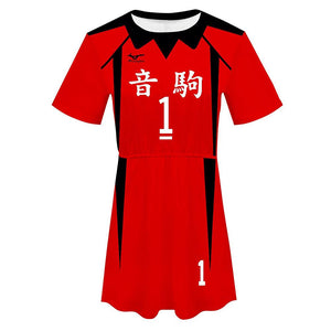 Haikyuu!! Kuroo Tetsurou Cosplay Dress Women Summer Short Sleeve Cosplay Costume