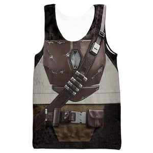 Men Star Wars The Mandalorian Cosplay Tank Tops Summer Cool Sleeveless Vest Casual Streetwear Clothes