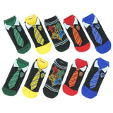 Harry Potter Cartoon Ankle Socks Tie Pattern Magic Academy Socks