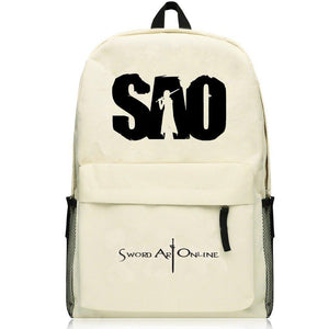 Sword Art Online Backpacks Canvas Bags Travel School Book Bag for Teens Boys