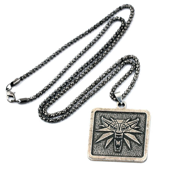 The Witcher 3: Wild Hunt Necklace Game Wizard Pendant Necklace Charm Keychain Gifts