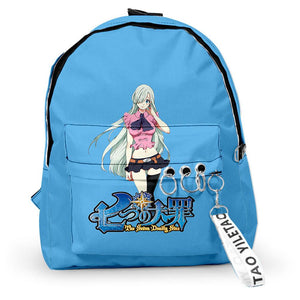 The Seven Deadly Sins Anime Backpack Student School Bag Anime Fans Gift Travel Backpack Daypack