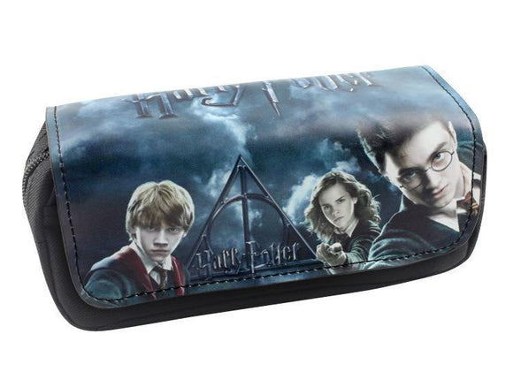 Harry Potter Pen Bags Double Zipper School Pencil Case Box