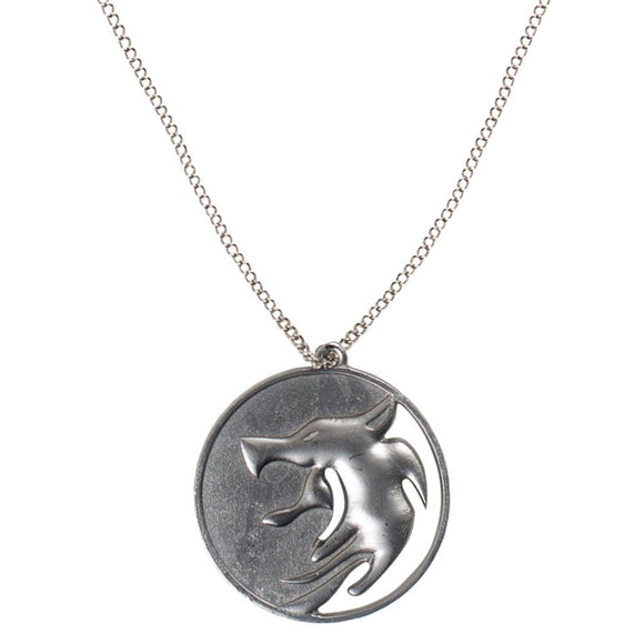 The Witcher Geralt of Rivia Wolf Head Medallion Necklace