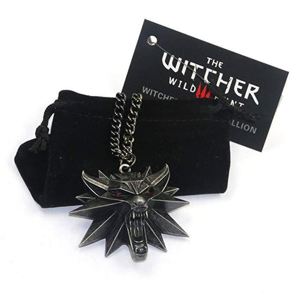The Witcher 3 Wild Hunt Wolf Head Medallion Necklace
