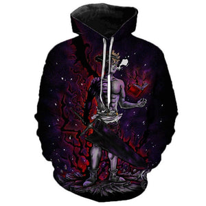 Unisex Black Clover Hoodies Teens Novelty Hooded Sweatshirts Spring Pullover Outerwear Sportswear