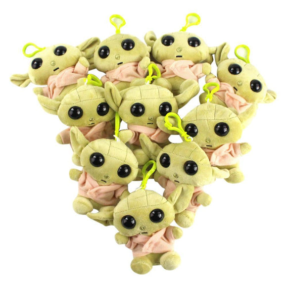 11cm Star Wars Baby Yoda Plush Toys Master Yoda Soft Stuffed Cartoon Animal Dolls Keychain Pendants Gift
