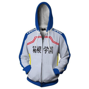 Unisex HAKOGAKU Cosplay Hoodies Yowamushi Pedal Zip Up 3D Print Jacket Sweatshirt