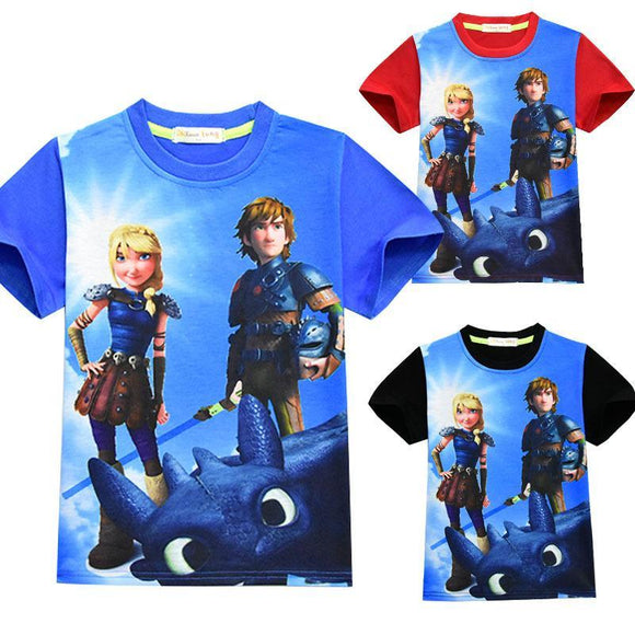 How to Train Your Dragon Warrior Youth Tees Shirts 3D Print Kids T-shirts