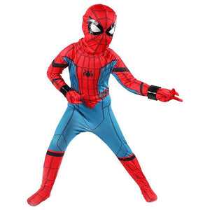 Boys Spiderman Costume Superhero Zentai Halloween Cosplay Costume