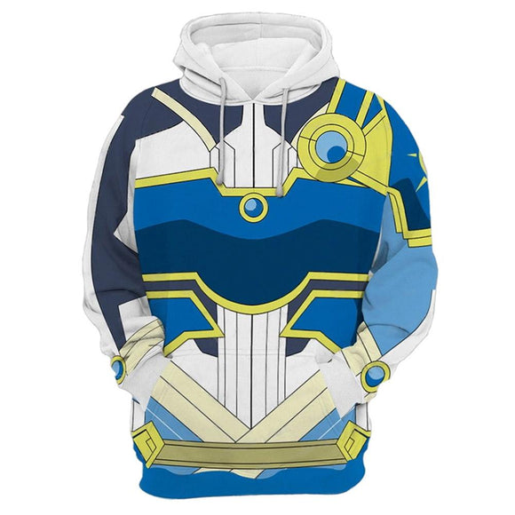 Unisex Asada Shino Cosplay Hoodies Sword Art Online Alicization War of Underworld Pullover 3D Print Jacket Sweatshirt