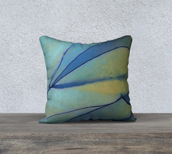 BLUE HERON PILLOW