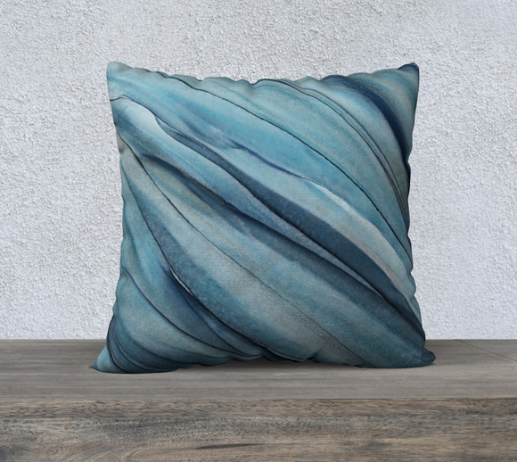 ICY BLUE PILLOW - SIZE 22