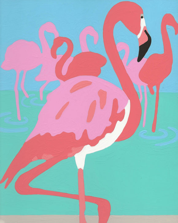 Flamingo  - 6 Color Paint by Number Kit
