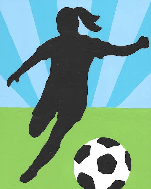 Soccer Girl - 5 Color Paint by Number Kit
